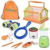 FUN LITTLE TOYS 10 Pieces Bug Catcher Kits for Kids, Outdoor Explorer Kit Nature Exploration Toys Set for Boys & Girls