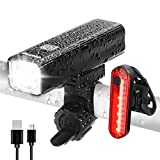 Ovetour 900 Lumen USB Rechargeable Bike Light,Super Bright Bicycle Front Headlight and Back Taillight,with Power Bank Function,5 Light Modes,Easy to Install for All Bicycles
