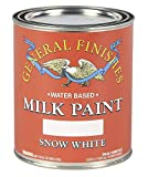 General Finishes Water Based Milk Paint, 1 Quart, Snow White