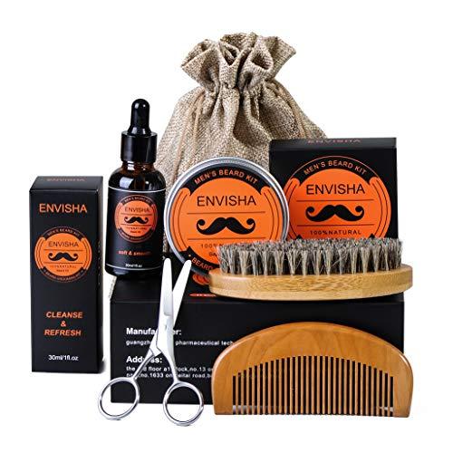 SWEET CARROT Baardverzorgingsset baardverzorgingsset geschenken incl. baardbalm (60g) baardolie (30ml) baardborstel baardschaar baardkam met reistas en reisbox cadeauset voor mannen