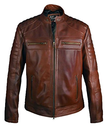 Leatherly -  Giacca - Uomo Black XXXXX-Large-Per Si Adatta Petto 132 cm- 135 cm