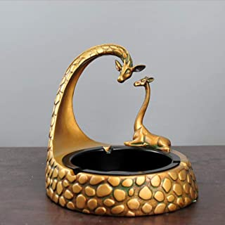F.A.N.G.Canju Ashtray Resin Craft Giraffe Creative Personality Home Hotel Decoration Gift