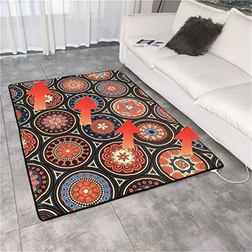 FUTNhot verwarmd tapijt, voor op kantoor, huishouden, elektrische verwarmingskussen, koolstofkristallen verwarming, woonkamer, slaapkamer, warm vloerkleed 23,6 x 74,8 inch