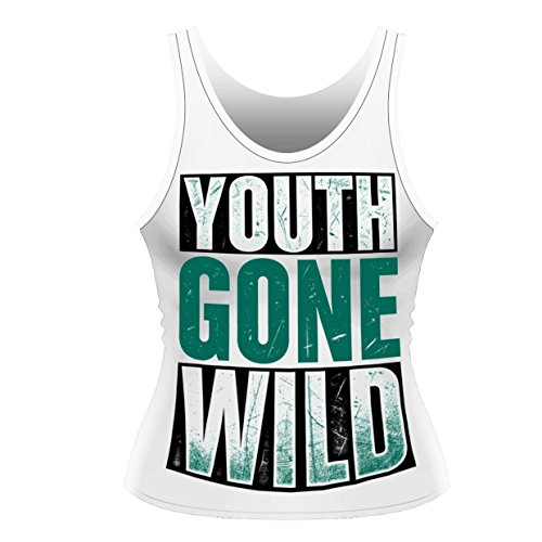 Asking Alexandria: Youth Gone Wild: Ladies Tank Vest (T-Shirt Donna Tg. S)...