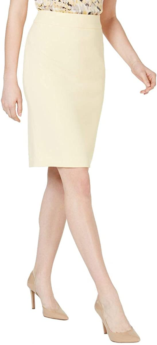 KASPER Women's Petite Textured Wear To Work Straight Pencil Skirt