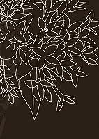 igsticker ポスター ウォールステッカー シール式ステッカー 飾り 841×1189㎜ A0 写真 フォト 壁 インテリア おしゃれ 剥がせる wall sticker poster 001256 フラワー 花 黒