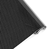 BangShou Pegatinas Coche Fibra de Carbono 5D-Adhesivos Firmes/152 * 30CM/Soporta el Agua/Fácil Colocación-Vinilo Carbono Coche Moto PC Móvil