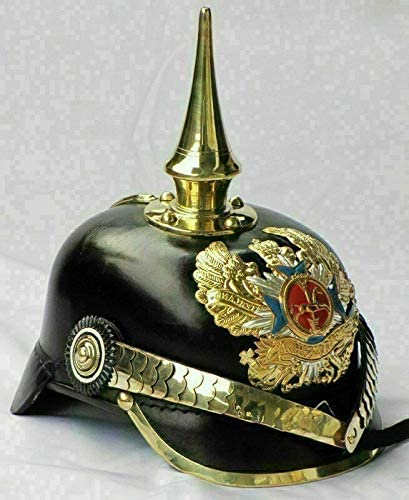 KEW HANDICRAFTS Max 67% OFF Leather We OFFer at cheap prices Helmet Pickelhaube Prussian German Imper