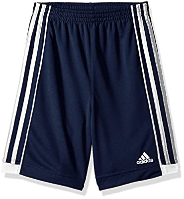 adidas Boys' Big Active Sports Athletic Shorts, Speed 18 Collegiate Navy, L(14/16)