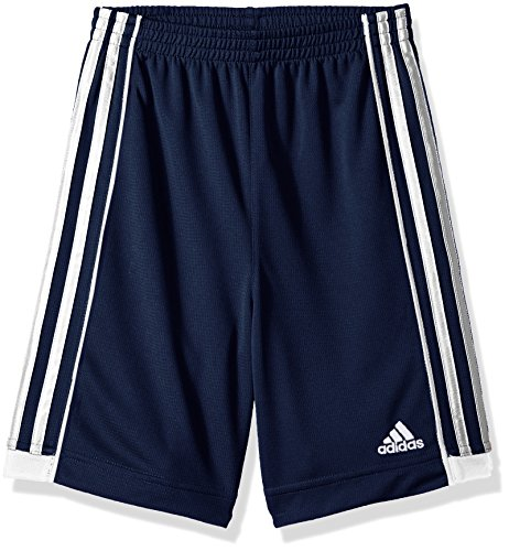 adidas Boys' Big Active Sports Athletic Shorts, Speed 18 Collegiate Navy, Large