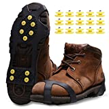 Ice Snow Grips,Anti Slip Winter Ice Grippers Snow Traction Cleats Crampon Spikers Ice Traction Slip on Boots...