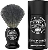 Badger Hair Shaving Brush- Shave Brush for Wet Shave Using Shaving Cream & Soap- Best Shave of Your Life for Safety Razor, Double Edge Razor, Straight Razor or Shaving Razor