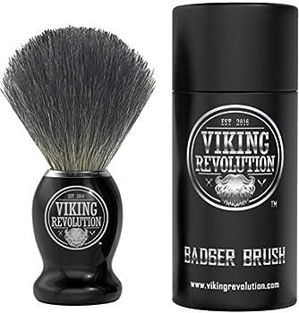 Badger Hair Shaving Brush- Shave Brush for Wet Shave Using Shaving Cream & Soap- Best Shave of Your Life for Safety Razor Double Edge Razor Straight Razor or Shaving Razor
