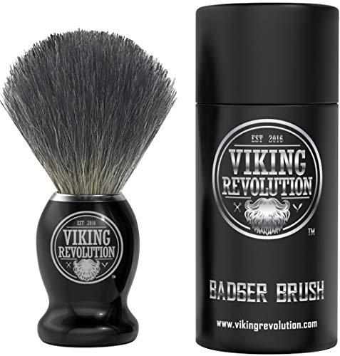 Badger Hair Shaving Brush- Shave Brush for Wet Shave Using Shaving Cream & Soap- Best Shave of Your Life for Safety Razor, Double Edge Razor, Straight Razor or Shaving Razor