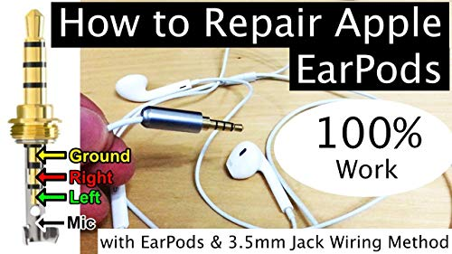Repair iPhone EarPods earphone Replacing Jack 100% Work with APPLE EarPods 3.5mm Jack Wiring Method: How to Repair Apple iPhone EarPods Replacing Jack Full Demo 100% Work! (English Edition)