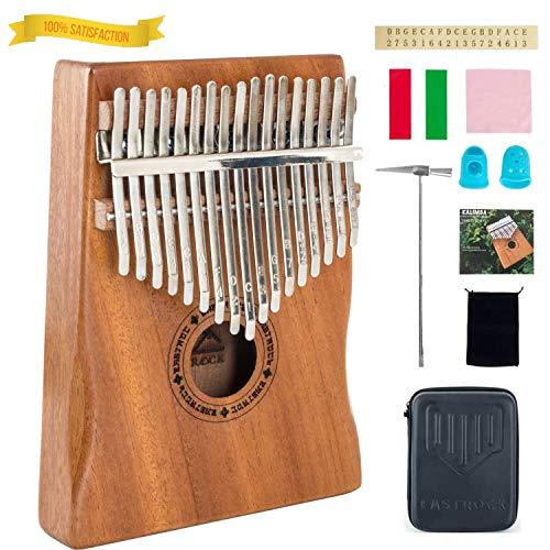 EastRock Kalimba - Piano de 17 teclas con martillo, instrumento musical portátil, regalo para niños y adultos principiantes Kalimba Thumb Piano (Mbira Acacia/Koa)
