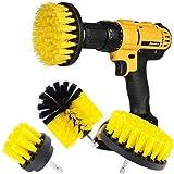 Original Drill Brush 360 Attachments 3 Pack kit Medium- Yellow All Purpose Cleaner Scrubbing Brushes...