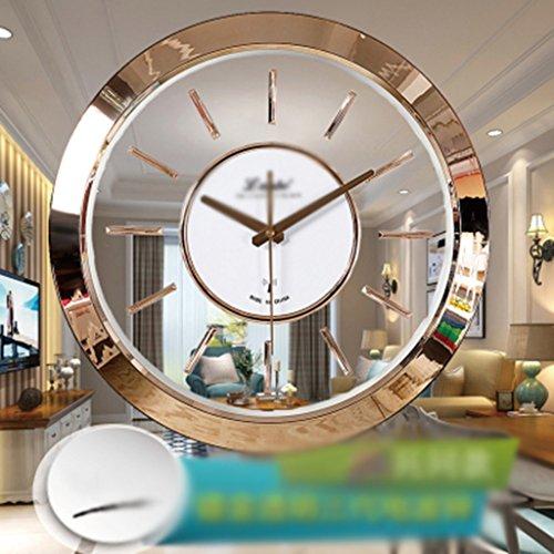 CK Reloj de Pared silencioso, Transparente Tres Generaciones de Reloj de la...