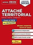 Attaché territorial -Externe, Interne, Catégorie A - Cours et QCM en 42 fiches