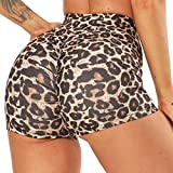 FITTOO Pantalones Cortos Leggings Mujer Mallas Yoga Alta Cintura Elásticos #2 Leopardo M