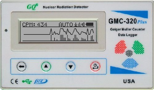 GQ GMC-320 Plus Geiger Müller Zählrohr Geiger Counter Nuclear Radiation Detector Meter Beta Gamma X ray