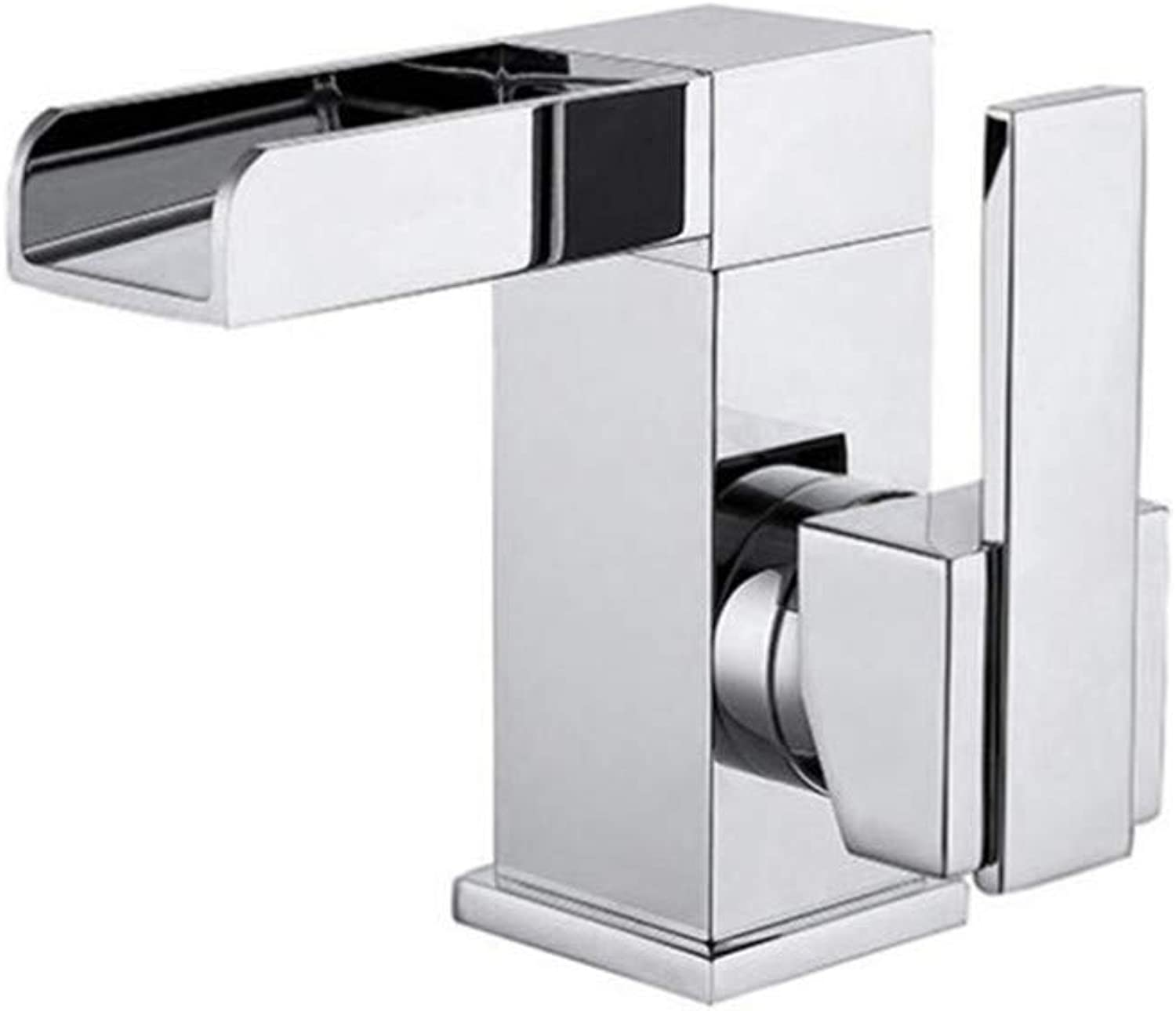 Ledu Basin Faucet,Stunning Waterfall Bathroom Sink Monoblock Mixer Faucet Chrome