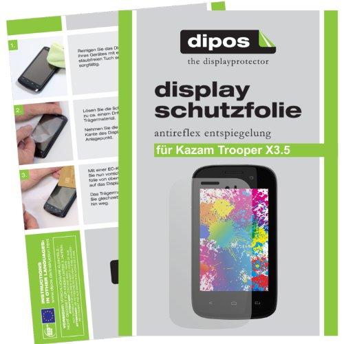 dipos I 2X Schutzfolie matt kompatibel mit Kazam Trooper X3.5 Folie Bildschirmschutzfolie