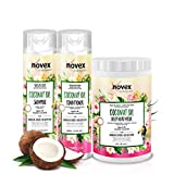 Novex Coconut Oil Shampoo, Conditioner & Hair Mask Bundle - Infused with Pure 100% Organic Coconut...