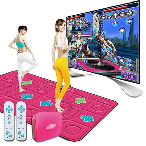 ZHANGZHIYUA Doppelte Tanzmatte,Drahtlose Tanzdecken Spielmatte,Running Yoga Game Blanket,Verdickung Schallschutz, Soft Dance Mats HD-TV-Computer Dual-Use (Pink)