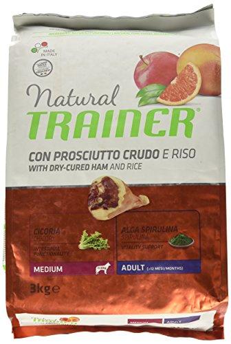 Natural Trainer Trainer Natural Medium Prosciutto Riso kg. 3 Cibo Secco per Cani, Multicolore, Unica