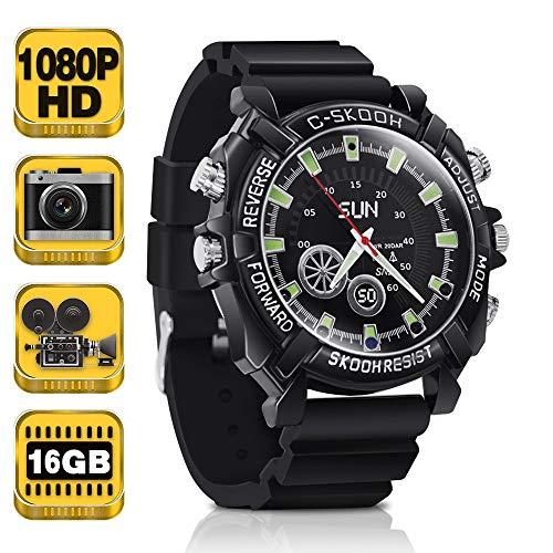 16GB 1080P HD Grabadora Espía Reloj Cámara Secreta Soporte Audio Grabación, Tomar Fotos