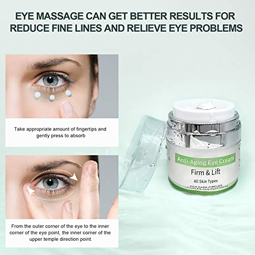 51jA3camTUL - Eye Cream - Under Eye Treatment for Anti Aging, Dark Circles, Eye Bag & Puffiness with 43% Aloe Vera, Retinol, Vitamin C & E Eye Treatment for Men/Women's Eye Cream