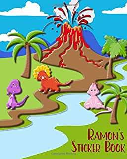 Ramon's Sticker Book: Blank Pages for Drawing or Putting Stickers