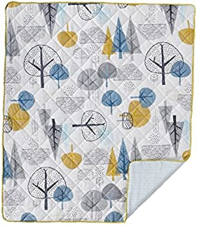 Lolli Living Baby Quilted Comforter in Woods Print. 100% Cotton Modern Quilted Baby Comforter (50x40 inch)
