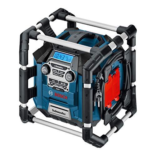 Bosch Professional 18V System Akku Baustellenradio GML 20 (20 Watt, USB, SD, 2x Aux-In, Aux-Out, 12V DC Strombuchse, im Karton)