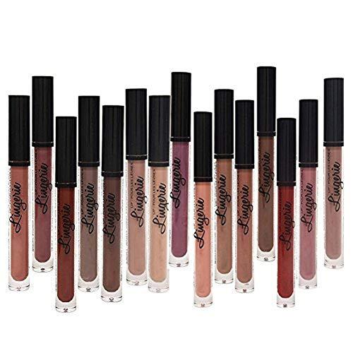 Matte Liquid Lipstick Set, Spdoo 15 Colors Long Lasting High Pigmented Velvet Lip Gloss Kit