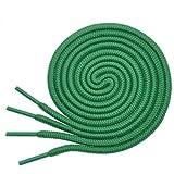 "BIRCH's Round Shoelaces 27 Colors 3/16"" Thick Shoe Laces 4 Different Lengths (45.5"" (115cm) - L, Green)"