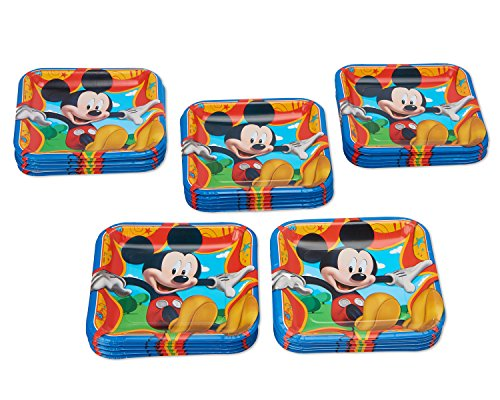 American Greetings Mickey Mouse Paper Dinner Plates, 40-Count