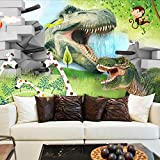 Msrahves posters para pared Dibujos animados animal dinosaurio 200X150CM Fotomural Vinilo de Pared Paredes Decoración Hogar fotomurale 3d fotomurale da parete fotomurales decorativos pared papel pinta