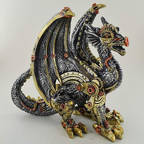 Prezents.com Mechanische Draak Sculptuur Ongelooflijk Gedetailleerd Altaar Ornament voor Fantasie & Steampunk Fans