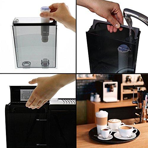 Melitta Caffeo CI Touch F630-101 Kaffeevollautomat mit Milchsystem I Flüsterleises Mahlwerk I Touch Funktion I 1,8l Wassertank I silber - 4