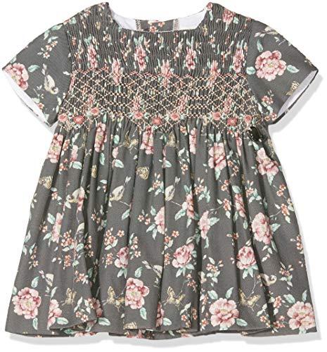 Rigans Vestido BB Chloe Floral Manteau, Gris (Gris 493), 74 Bébé Fille