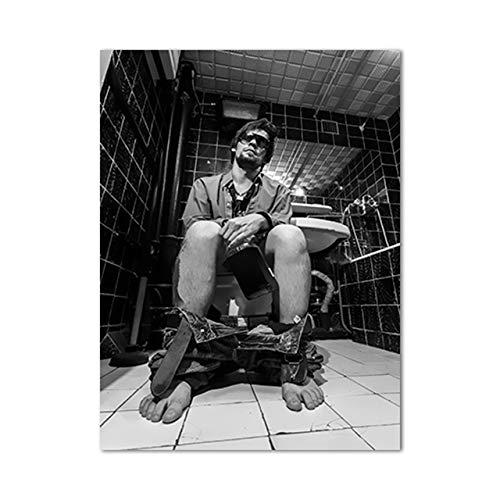 tzxdbh Modulaire Gedrukte Afbeeldingen Nordic Home Decoratieve Zwarte en Witte Tekens Schilderijen Moderne Jongen Slaapkamer Canvas Poster Muur Art-in Schilderij & Kalligrafie van 45x60cm No Frame Yn3199-01