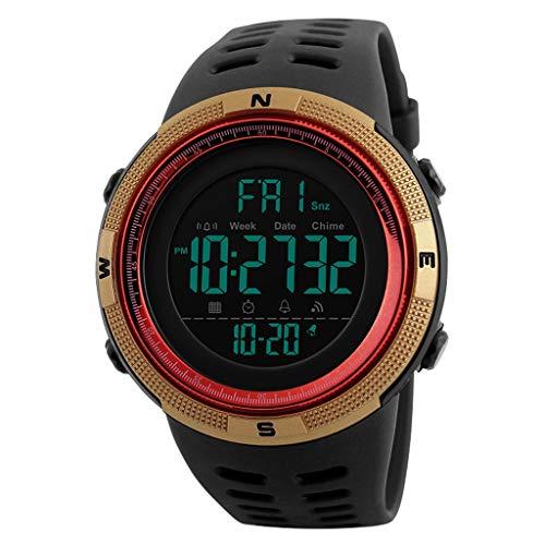 Mode Outdoor Sport Horloge Mannen Klok Multifunctionele Horloges 5Bar Waterdicht Digitaal Horloge