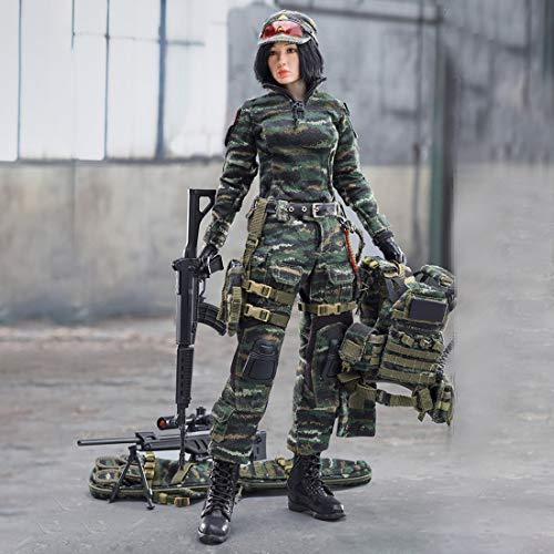 CT-Tribe Soldaten Figur, 1:6 30CM Soldaten Action Figur Weiblicher Scharfschützen-Soldat Modell Spielzeug, Militär Spielzeug Sammlung von Militärfans