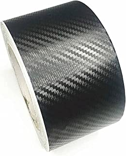new 3D Carbon Fiber Car Sticker DIY Paste Protector Strip Auto Door Sill Side Mirror Anti Scratch Tape Protection Film (Co...