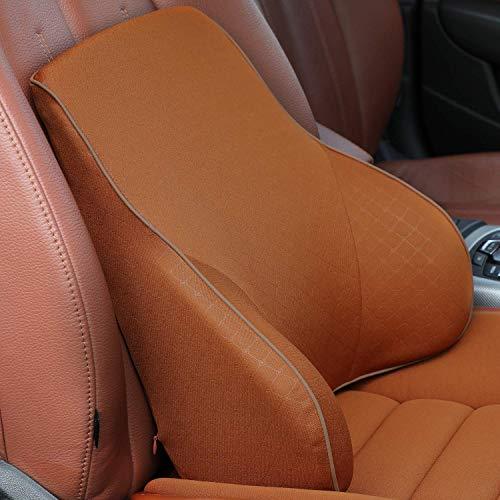 Newsty 低反発腰クッション ランバーサポート 通気性抜群 車用 自宅用 オフィス 姿勢矯正背中 背当てクッション (コーヒー)