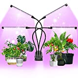 Led Grow Light, MEIKEE 120 LEDs Touch Control Grow Lights for Indoor Plants Growing Lamps Suitable for Smart Plug, Full Spectrum with Timer & Gooseneck Stepless Dimming Plant Lights on Table & Wall