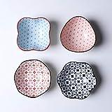Cuencos Aperitivo Cerámico Bowls Conjunto Conjuntos Conjuntos Platos Snack Sirviendo Platos Salsa Multiusos Platos Pequeños Cuencos Estilo Japonés Varias Formas Salsa Cuencos ( Style : C )
