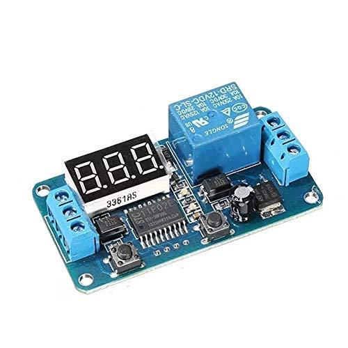 Allamp Módulo de relé extendido, Interruptor de Control Módulo PLC DC 12V LED de visualización del Temporizador de retardo Digital Herramientas industriales